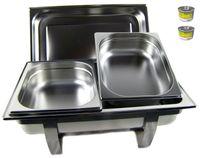 Chafing Dish Speisenwärmer Warmhaltebehälter Edelstahl 1/2 extra tief 100mm