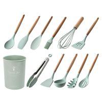 Küchenhelfer 12tlg Antihaft Küchenutensilien Set Silikon Küchenutensilien Kochbesteck-Sets