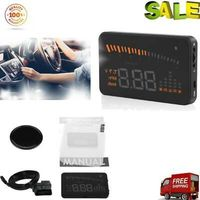 """Auto X5 HUD 3"""" Head Up Display Speed Warning OBDII Geschwindigkeit Tachometer"""
