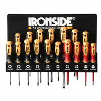 Ironside 120-555 Schraubendreher Set 17tlg, schwarz/gelb/rot (1 Set)