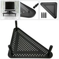 PrimeMatik - Monitorständer für Desktop und Laptop Regal con Ecke metallisch