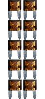 baytronic 10x Kfz-Flachstecksicherung Mini braun 7,5A