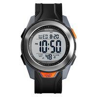 SKMEI 1503 Herren Sportuhren Wasserdichte Outdoor Armbanduhr Herren Digital Herrenuhr Militaerarmee Uhr fuer Herren (grau)