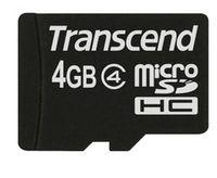 Transcend TS4GUSDC4, 4 GB, MicroSDHC, Schwarz