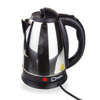 Edelstahl Wasserkocher Teekocher Wasserkessel DWK180A 1,8 Liter 1800 Watt silber