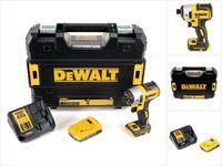 DeWalt DCF 887 D1 Akku Schlagschrauber 18V 205Nm 1/4' Brushless + 1x Akku 2,0Ah + Schnellladegerät + TSTAK