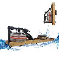 Fitifito WR19 Rudergerät Wasser klappbar 17L Wassertank, belastbar bis 170kg, 5-Level Wasserwiderstand, Touchscreen Display, vormontiert, platzsparend,Heimtrainer, Holz Buche