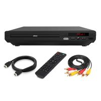 1080P UHD DVD Player DVD Spieler VCD CD Spieler mit Fernbedienung HD Leitung AV USB 19.3x22.3x4.5cm für TV Player