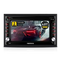 NEOTONE NDX-300W | Navigation mit Europakarten | universelles 2DIN Autoradio | 6.2 Zoll | Radarwarnsystem | Bluetooth | Touchscreen | DVD-Player | MirrorLink | 16GB MicroSD inklusive
