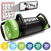 Power Bag aus Kunstleder 5-30kg I Fitness-Bag Sandbag für Functional Training Gewicht: 15 kg