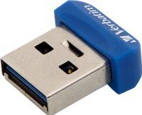 Verbatim Store 'n' Stay NANO - USB 3.0-Stick 64 GB - Blau, 64 GB, USB Typ-A, 3.2 Gen 1 (3.1 Gen 1), Kappe, Blau