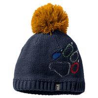 Jack Wolfskin Paw Knit Mütze Blau - Uni - Kinder, Größe:M
