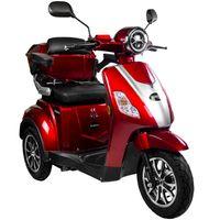 Rolektro E-Trike 25 V.3 Rot - 25 km/h - Lithium-Akku 60V-30AH - 1000W - Reichweite 70 km - LED Licht