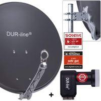 DUR-line Select 60/65 cm Sat Anlage 4 Teilnehmer Komplett Set anthrazit