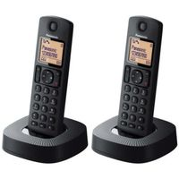 Panasonic KX-TGC312SPB, DECT, Polyphonisch, Schwarz, Wall/Desk, Mobilteil, Digital