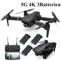 (5G 4K 3 Batterie)2020 neue Eachine E520S Dual GPS 5G WIFI FPV mit 4k HD Kamera  48 Min. Flugzeit Folgen Sie mir faltbare RC Drohne Quadcopter