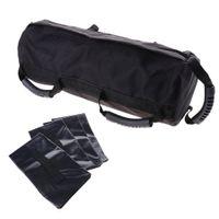 Trainingssandsack Krafttraining Leer Sandbag Gewichtssack Fitnessbag mit 4 Innentaschen