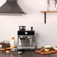 Cecotec Espressomaschine mit Mühle Power Espresso 20 Barista Cream. 1550 W, 20 Bar und Thermoblock, Wassertank 2,5 L