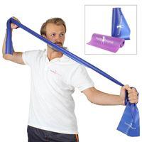 Hoopomania Fitnessband - Gymnastikbänder für Yoga - Latex frei! 1x Blau 200 cm