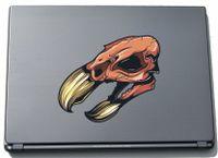 Laptopaufkleber Laptopskin Skull 054 - widerlicher Totenkopf Skull - 150 x 175 mm Aufkleber