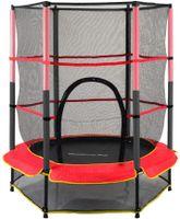 Trampolin für Kinder mit Sicherheitsnetz Mini-Outdoor-Trampoline mit starkem Rahmen Sicherheitskissen Springmatte für Kinder