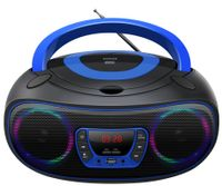 Denver Boombox Radio TCL-212BT, CD, Bluetooth, USB, Farbe: Blau
