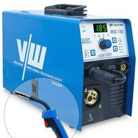 Schweißgerät MIG MAG 185A Schutzgasschweißgerät Inverter Kombi Gerät Fülldrahtschweißen |MIG185 Vector Welding