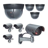 relaxdays 8er Set Kamera Attrape Kamera Dome und CCD Kamera mit LED Sicherheitskamera