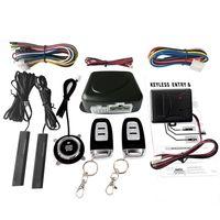 Zentralverriegelung Auto SUV Schalter Keyless Entry Engine Start Alarm System mit Vibrationssensor Push Button Remote Starter Stop Auto Diebstahlsicherung Zentralverriegelung