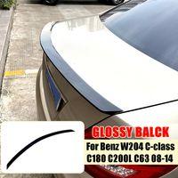 MECO Dach Heckspoiler Spoiler Kofferraum Schwarz für Benz W204 C C180 C200L C63 2008-2014