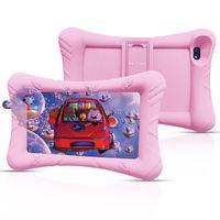 Pritom P7 7-Zoll-Kinder-Lern-Tablet, 1 GB RAM, 32 GB ROM, Quad-Core-Prozessor, HD-IPS-Display, WiFi-Android 9.0-Tablet, kindersicher mit Kinder-Tablet-Silikonhülle, Pink