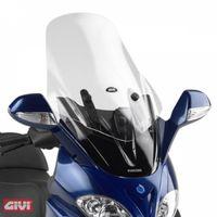 GiVi Windschild transparent, 640 mm hoch, 500 mm breit für Piaggio X9 200-250-500 Evolution Bj. 2003 - 2008