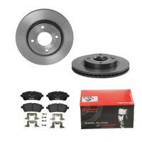 Brembo | 2 Bremsscheiben COATED DISC LINE Belüftet Ø258 Mm + Bremsbeläge Vorne Innenbelüftet (IJDTIDEIE9) passend für Ford