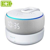 GGMM D3 Tragbare Ladestation für Dot (3.Gen.), Powerbank & Batterie Akku für Smart Lautsprecher, 8 Stunden Akkulaufzeit, Weiß (Dot 3 Nicht enthalten)