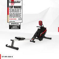 SportPlus Rudergerät für zu Hause, Rudermaschine klappbar, Leises Magnetbremssystem, Kugelgelagerter Rudersitz, SP-MR-008-B