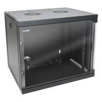HMF 65409-02 Serverschrank 19 Zoll, 9 HE, 54 x 44,5 x 48,5 cm, Schwarz