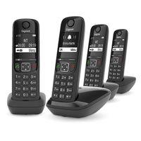 Gigaset AS690A Quattro Analog/DECT Phone Black