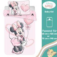 Minnie Mouse Disney Kleinkind Bettwäsche Set 100x135 40x60cm 100% Rosa Garnitur