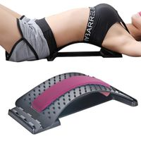 Back Support, Rückenstrecker Rückendehner Rückentrainer gegen Verspannungen (Pink)