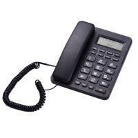 Schwarzes schnurgebundenes Telefon Kabelgebundenes Festnetztelefon mit LCD-Anzeige Anrufer-ID / Anklopfender Lautsprecherrechner Funktion Klingelton Melodien Lautstaerkeregelung fuer Hotel Office Business Home