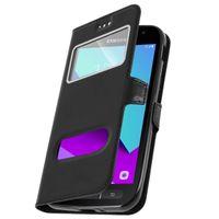 Samsung Galaxy Xcover 4 / 4S Flip-Schutzhülle mit Doppelfenster – Schwarz