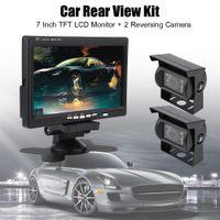 "7"" TFT Auto LCD Monitor + Rückfahrkamera Autokamera Rückansicht Einparkhilfe Nachtsicht Bus System Set"