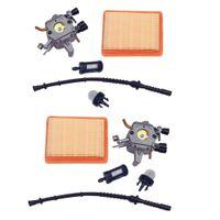 2 Vergaser Luftfilter Kit Für Stihl Fs400 Fs450 Fs480 # 4128120