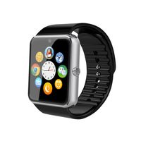 Android Smartwatch GT08 mit Touchscreen SIM Support Kamera Mikrofon Freisprechen MicroSD silber