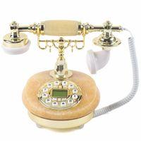 Retro-Telefon Europäischen Schnurgebunden Festnetztelefon FSK/DTMF Haustelefon Retrotelefon Small Base Desk Phone