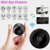 Mini Kamera Full HD 1080P Tragbare Kleine WLAN Überwachungskamera Cam mit Bewegungserkennung und Infrarot Nachtsicht für Innen und Aussen Sport Videokamera