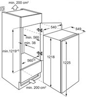 AEG - SFB412F1AS - Einbau-Kühlschrank mit Gefrierfach - Schlepptürtechnik