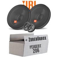 Lautsprecher Boxen JBL 16,5cm System Auto Einbausatz - Einbauset für Peugeot 206 - JUST SOUND best choice for caraudio