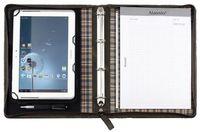Alassio Tablet-PC Organizer und Schreibmappe, DIN A4, Leder, braun