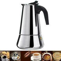 Edelstahl Espressokocher Espressokanne Espresso Kaffe Kocher Camping 6Tassen Induktion Espressomaschine Moka Latte